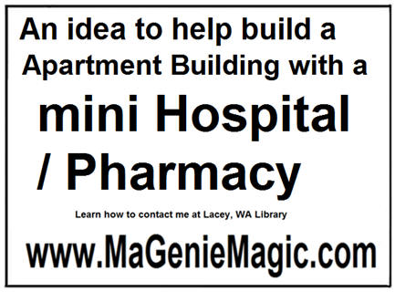 An idea to help build a apartment building with a mini hospital pharmacy 120610
